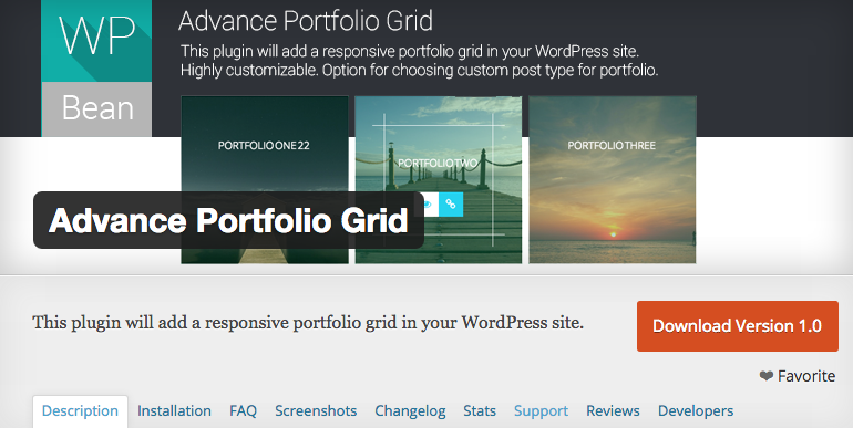 Advance Portfolio Grid