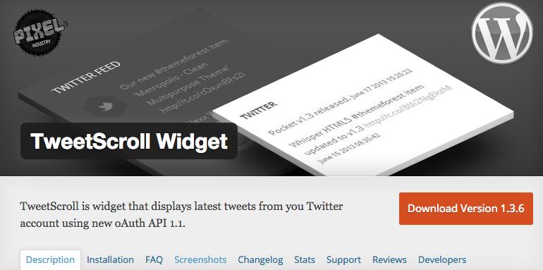 TweetScroll Widget