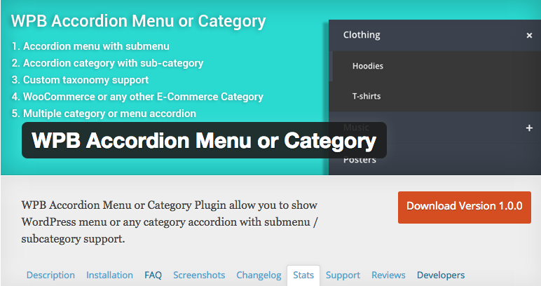 WPB Accordion Menu or Category