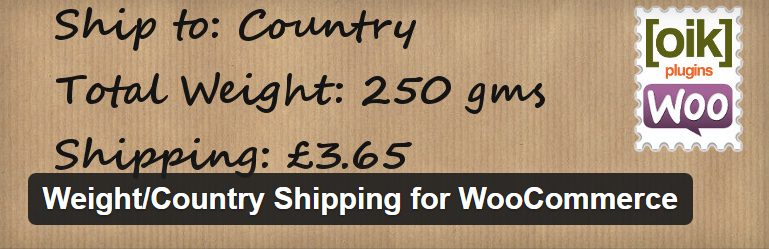 Weight-Country Shipping for WooCommerce