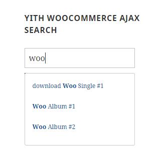YITH WooCommerce Ajax Search
