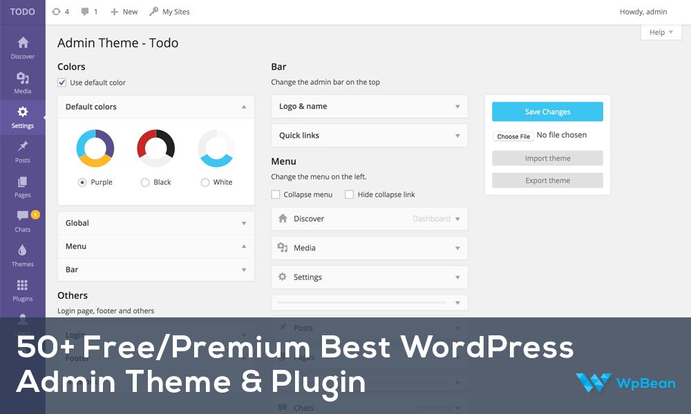 50+ Free/Premium Best WordPress Admin Theme Plugin 2016   WpBean
