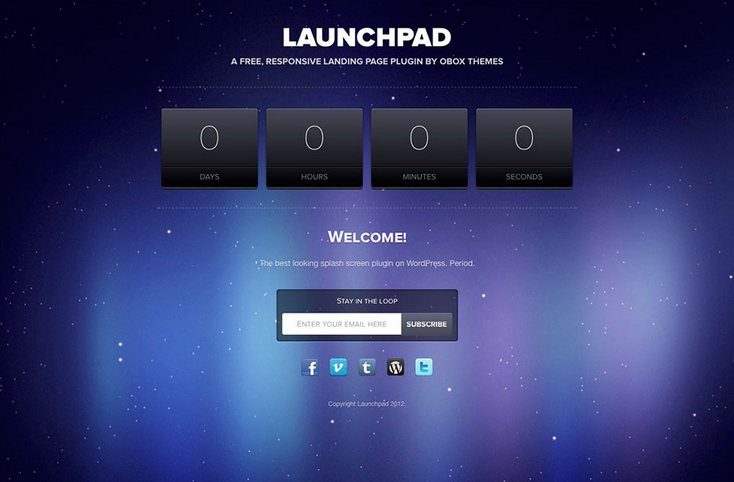 launchpad wordpress coming soon website template