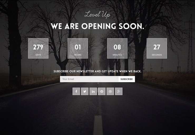 level-up wordpress coming soon website template