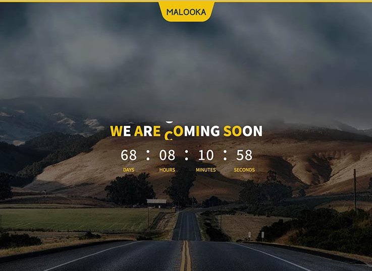 malooka wordpress coming soon website template