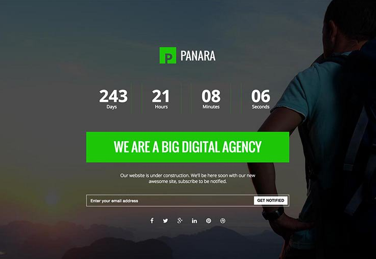 panara wordpress coming soon website template