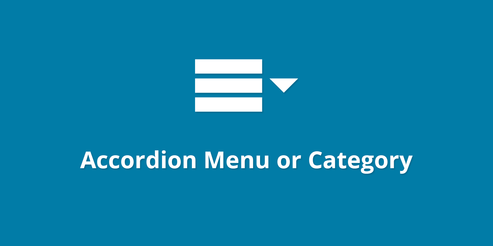 WPB Accordion Menu or Category PRO