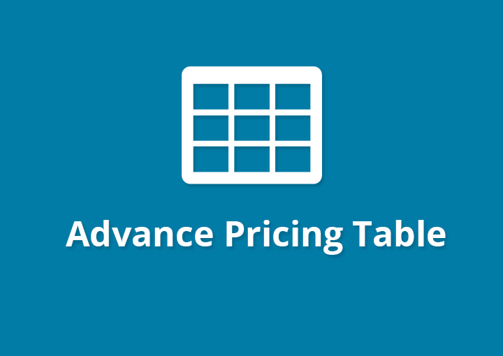 Advance Pricing Table PRO