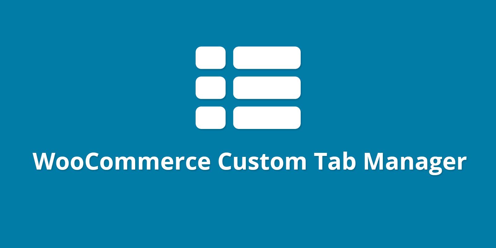 WPB WooCommerce Custom Tab Manager PRO