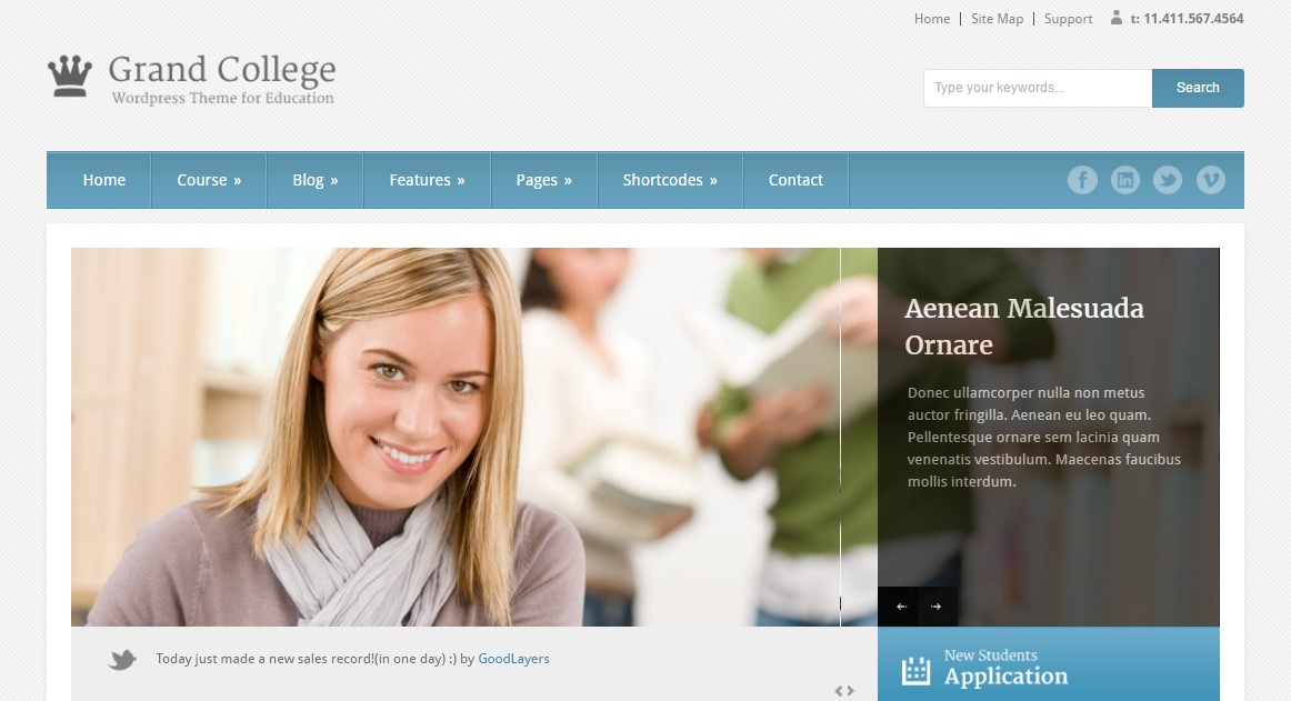 22. Grand College - WordPress Theme For Education
