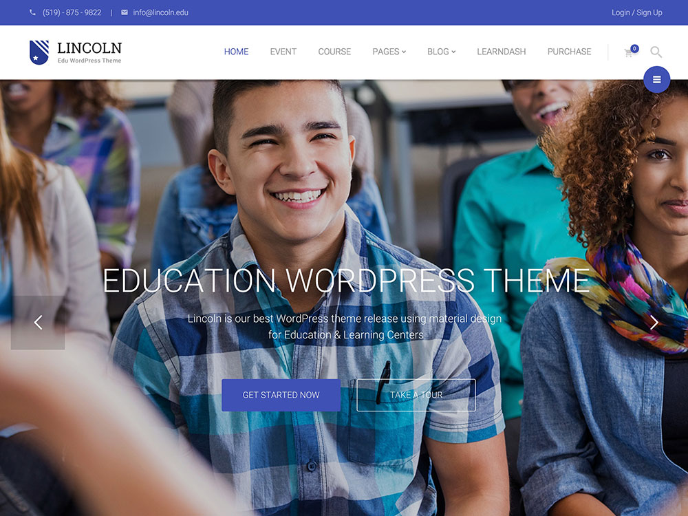 23. Lincoln - Education Material Design WordPress Theme