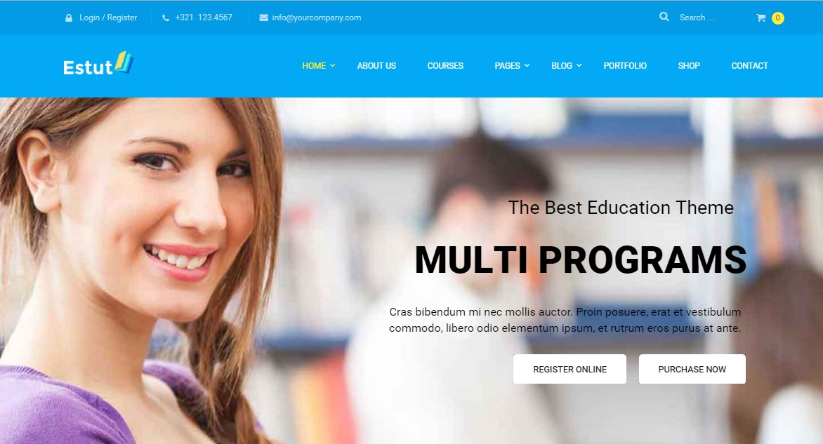 Estut Education WordPress Theme