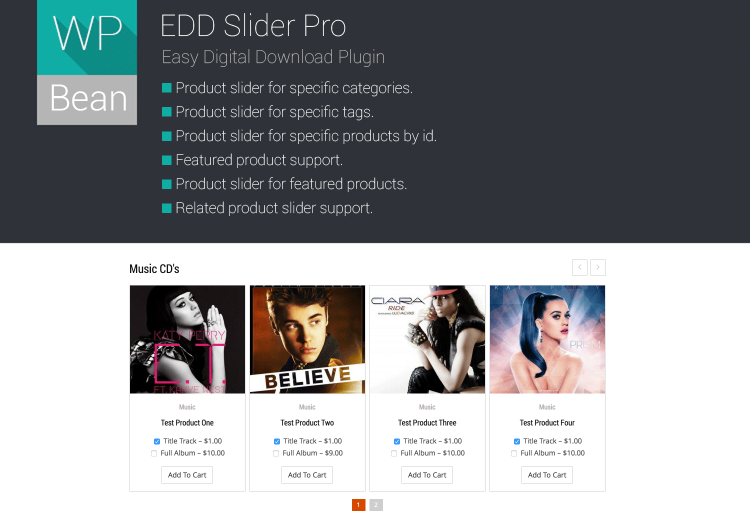 easy digital downloads slider plugin