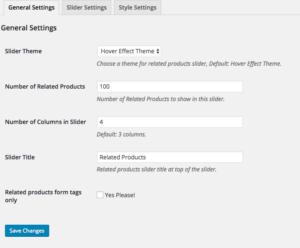 WooCommerce relative products slider