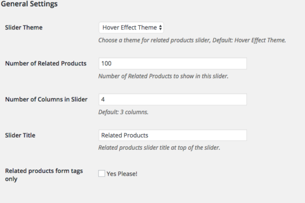 WooCommerce relative products slider