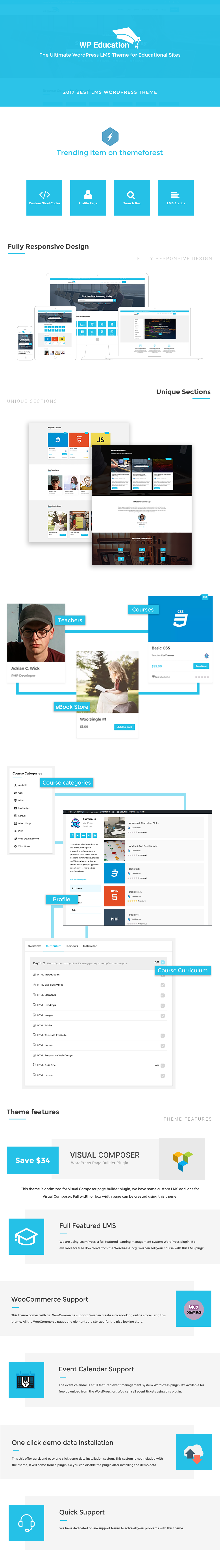 WP Education – The Ultimate WordPress LMS Theme