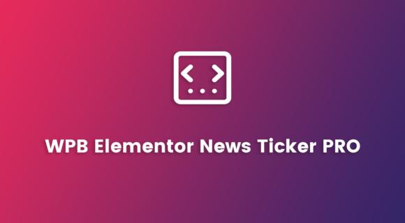 WPB Elementor News Ticker PRO